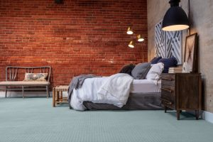 Brick wall design of bedroom | Carpets by Direct