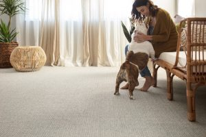 Woman with dog on Carpet | Carpets by Direct
