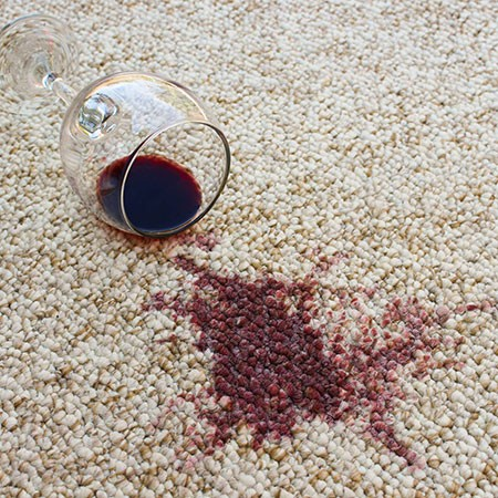 Red wine spill on carpet | Carpets by Direct