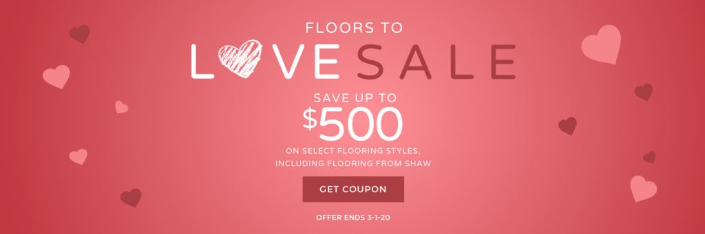 Floors to love sale banner | Carpets by Direct