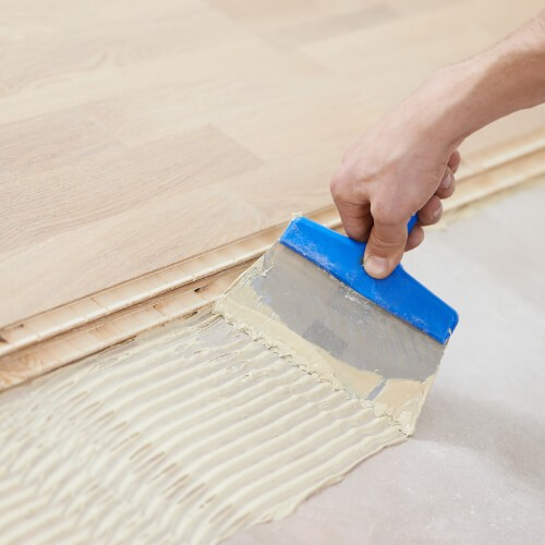 Glue down Hardwood installation | Carpets by Direct