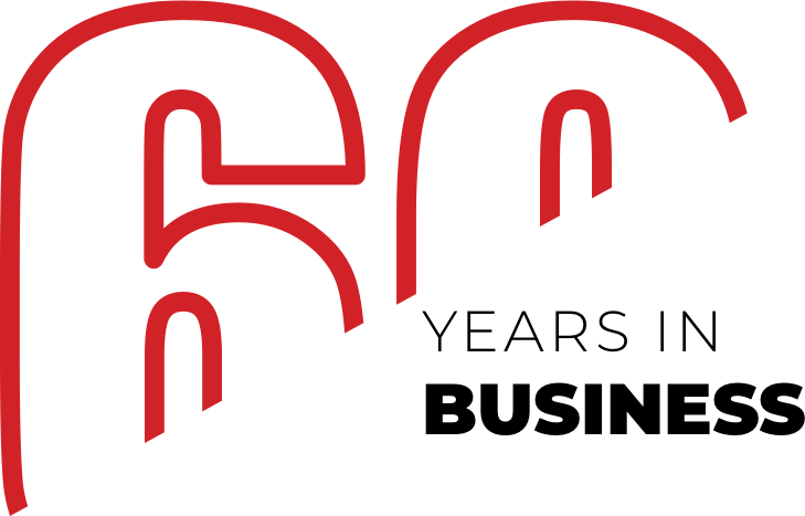 Sixty years in business logo | Carpets by Direct