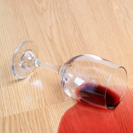 Red wine spill on Laminate floor | Carpets by Direct